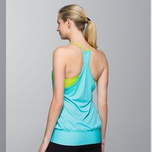 💙HP💙Lululemon No Limits Tank Angel Blue/Antidote